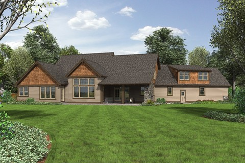 Image for Braecroft-Picturesque Lodge Home Plan with Space for Work and Play-6510