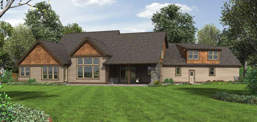 Mascord House Plan 2471: The Braecroft