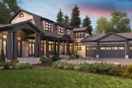 Front Rendering of Mascord House Plan 2472 - The Chatham