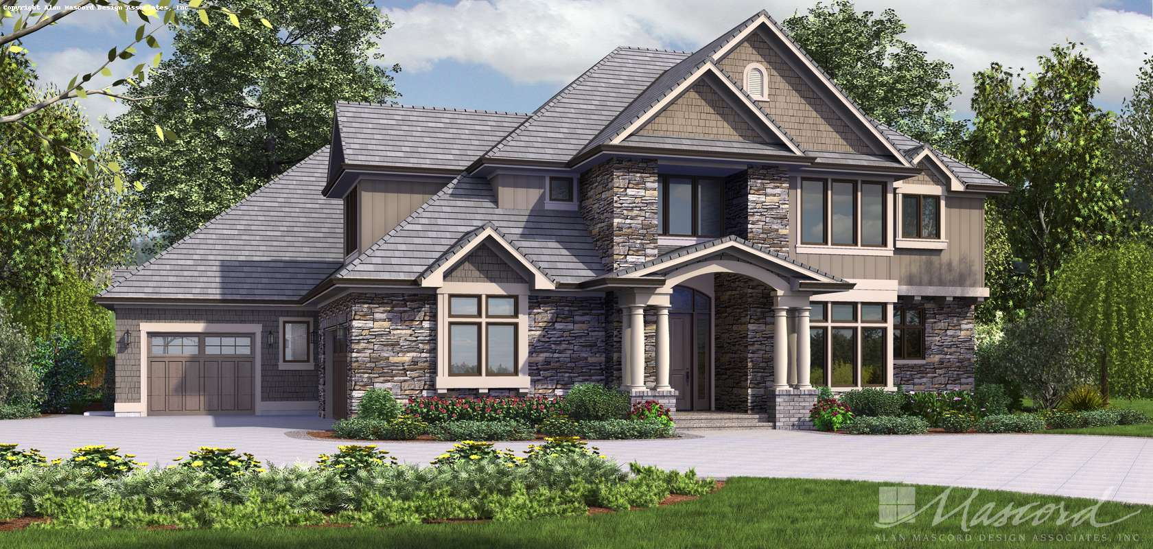 Mascord House Plan 2473: The Rutledge