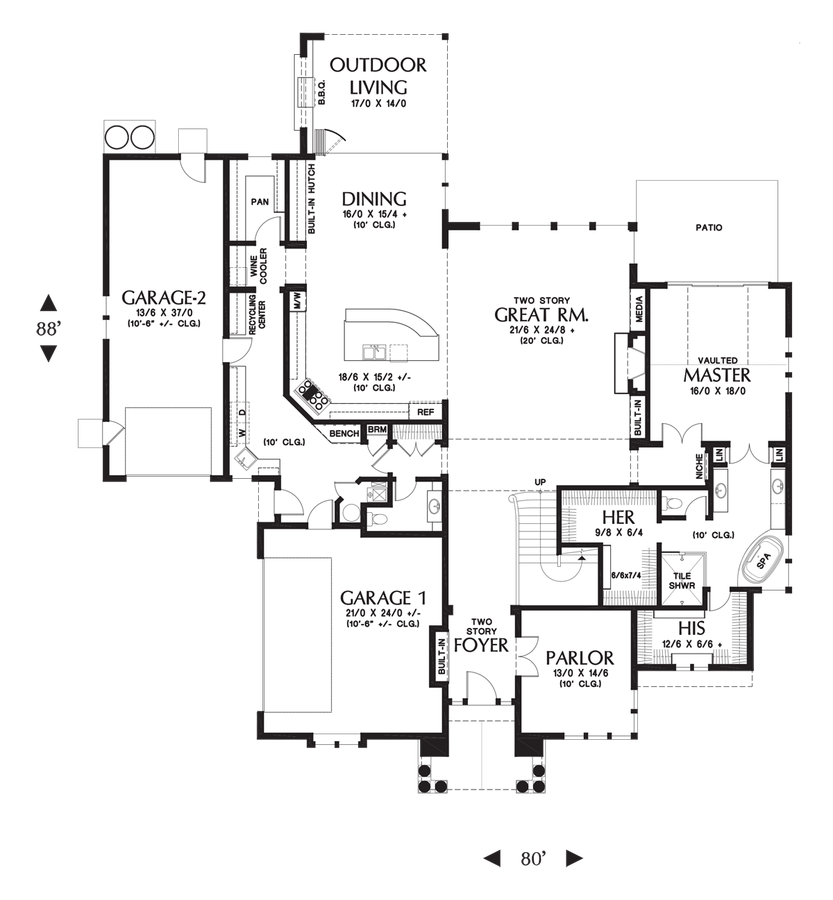 Image for Rutledge-A majestic home design with presence and practicality rolled into one-Main Floor Plan