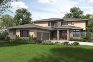 Front Rendering of Mascord House Plan 2475 - The Summerville