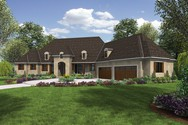Front Rendering of Mascord House Plan 2476 - The Thatcher