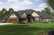 Front Rendering of Mascord House Plan 2477 - The Millersburg