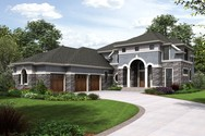 Front Rendering of Mascord House Plan 2478 - The Octavia