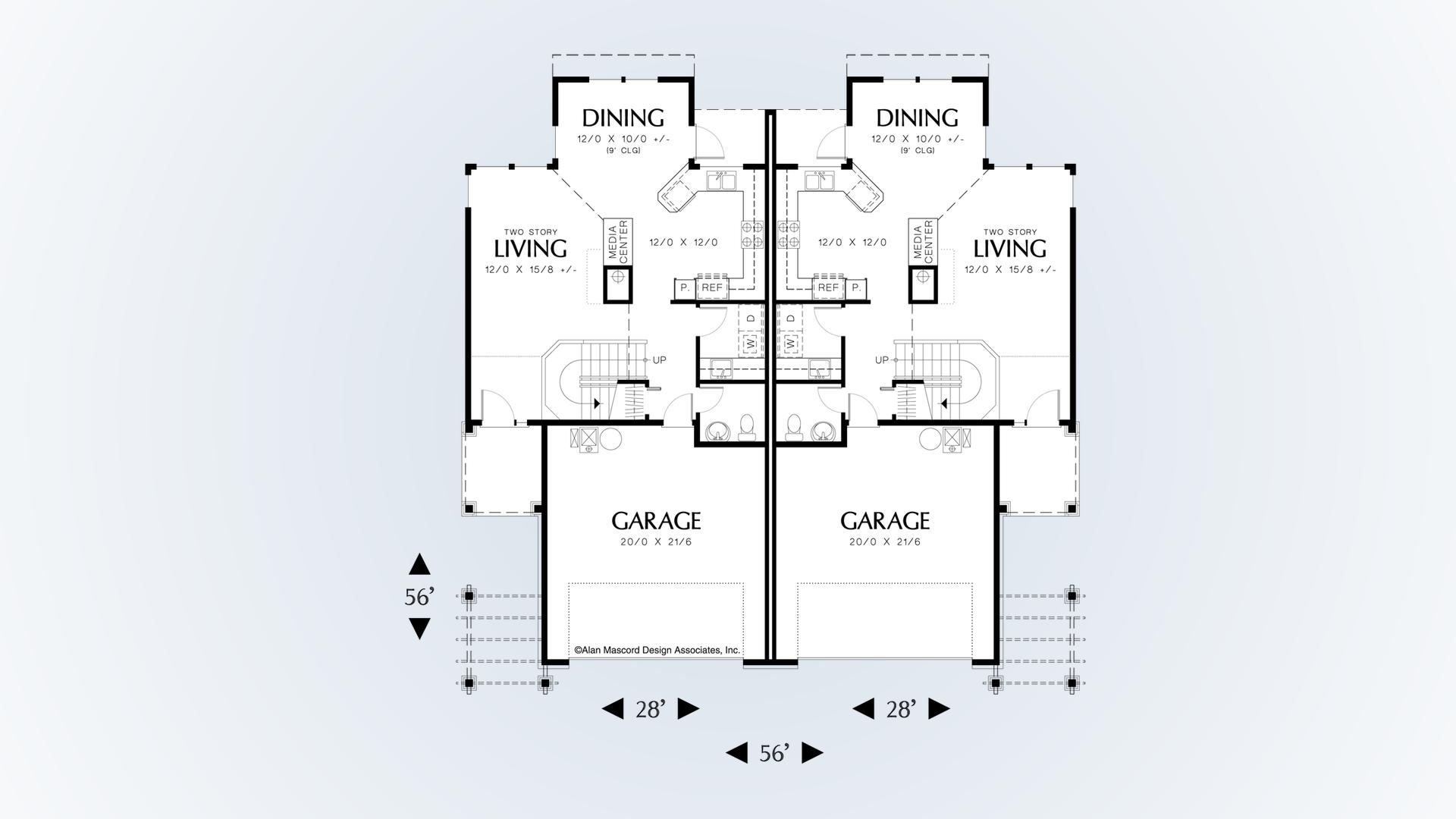 Craftsman House Plan 4001 The Warrenred 3374 Sqft 3 Beds