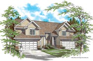 Front Rendering of Mascord House Plan 4005 - The Applegate