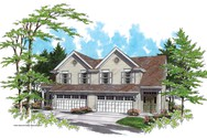 Front Rendering of Mascord House Plan 4007 - The Johnsonville