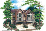 Front Rendering of Mascord House Plan 4016 - The Spencer