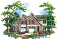 Front Rendering of Mascord House Plan 4026A - The Taegon