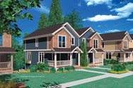 Front Rendering of Mascord House Plan 4027 - The Woodbury