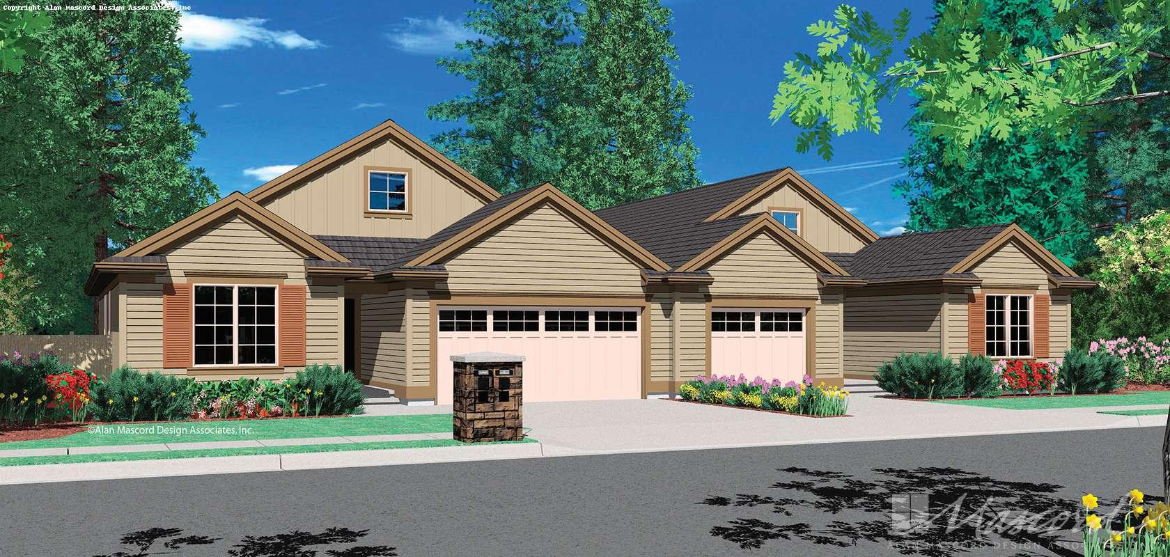 Mascord House Plan 4028: The Eagleton