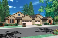 Front Rendering of Mascord House Plan 4028 - The Eagleton