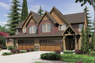 Front Rendering of Mascord House Plan 4036-Unit A - The Aurora