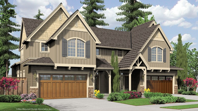 Craftsman House Plan 4037 The Whitman: 3541 Sqft, 3 Beds ...