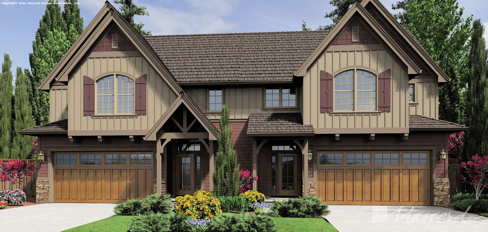 Mascord House Plan 4039: The Normandy