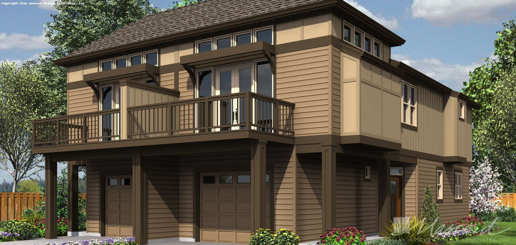 Mascord House Plan 4043: The Olsen