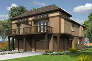 Front Rendering of Mascord House Plan 4043 - The Olsen