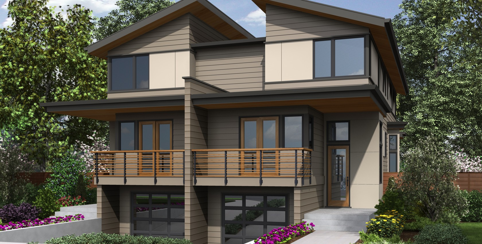 Image for Grand Teton-Modern Exterior with Traditional appeal.  Great Duplex plan!-8494