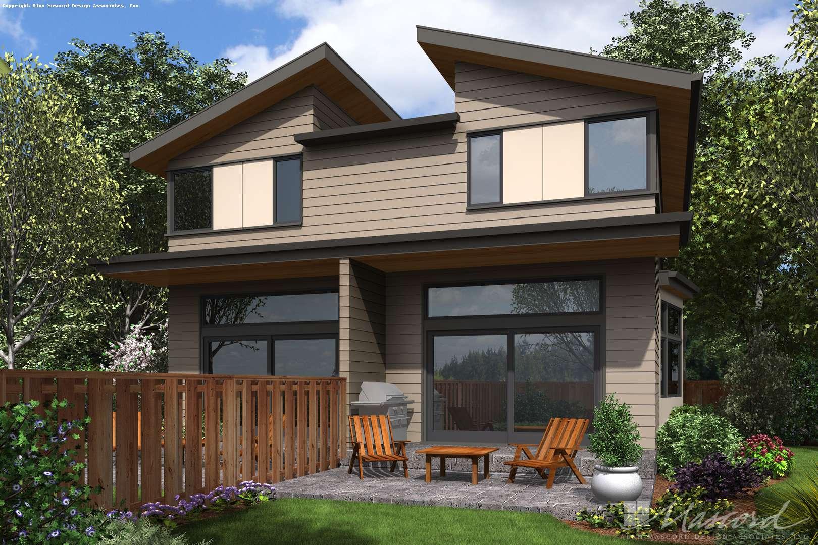 Contemporary House Plan 4044 The Grand Teton: 4002 Sqft, 2 ...