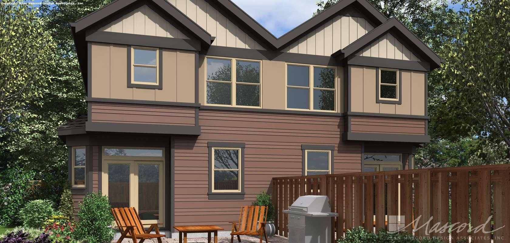 Mascord House Plan 4045: The Cascades