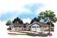 Front Rendering of Mascord House Plan 5010 - The Schumacher