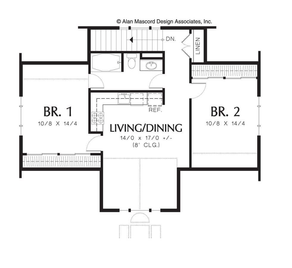 Carriage house house plan 5016b the eastman 885 sqft 2 for 3 bedroom carriage house plans