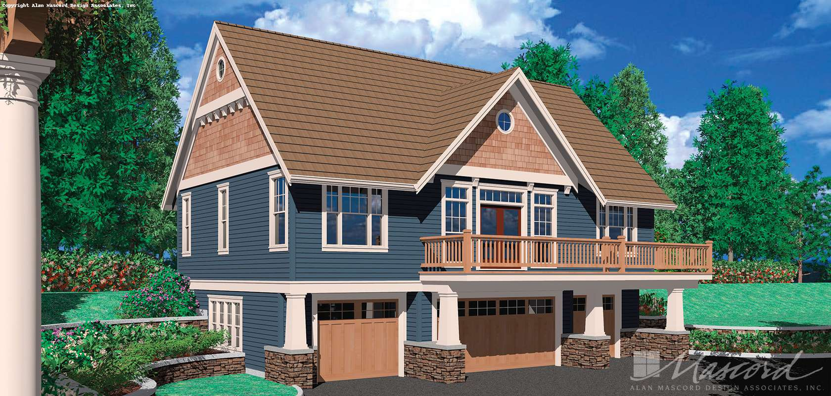 Mascord House Plan 5016A: The Barnesville