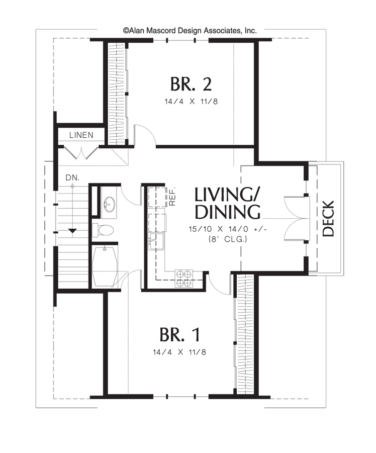 Carriage house house plan 5016 the athena 908 sqft 2 for Apartment over garage floor plans