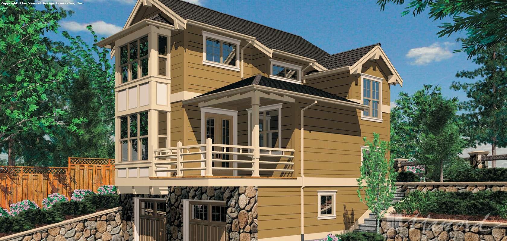 Mascord House Plan 5020: The Merillat
