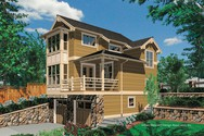 Front Rendering of Mascord House Plan 5020 - The Merillat