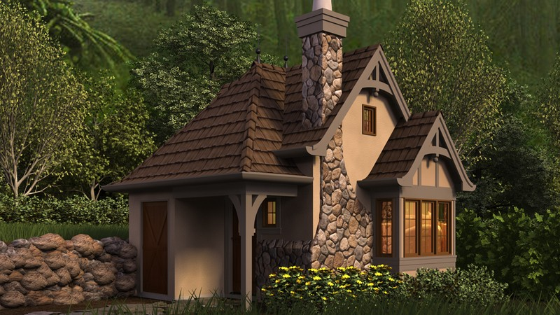 Tiny Home Designs: Cottage House Plan 5033 The Bucklebury: 300 Sqft, 0 Beds