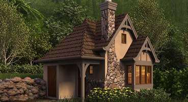 | <h3>The Bucklebury</h3> <p>If you've always wanted a storybook hideaway, the Bucklebury is the plan for you. Build this small home in a forest, the mountains or anywhere that inspires you. With a full bathroom, a small kitchen and a 12-foot by 12-foot main room, this tiny house plan gives you a great place to get away from it all.</p>  | Want a Cabin in the Woods? Check out These Four Vacation Home Plans!