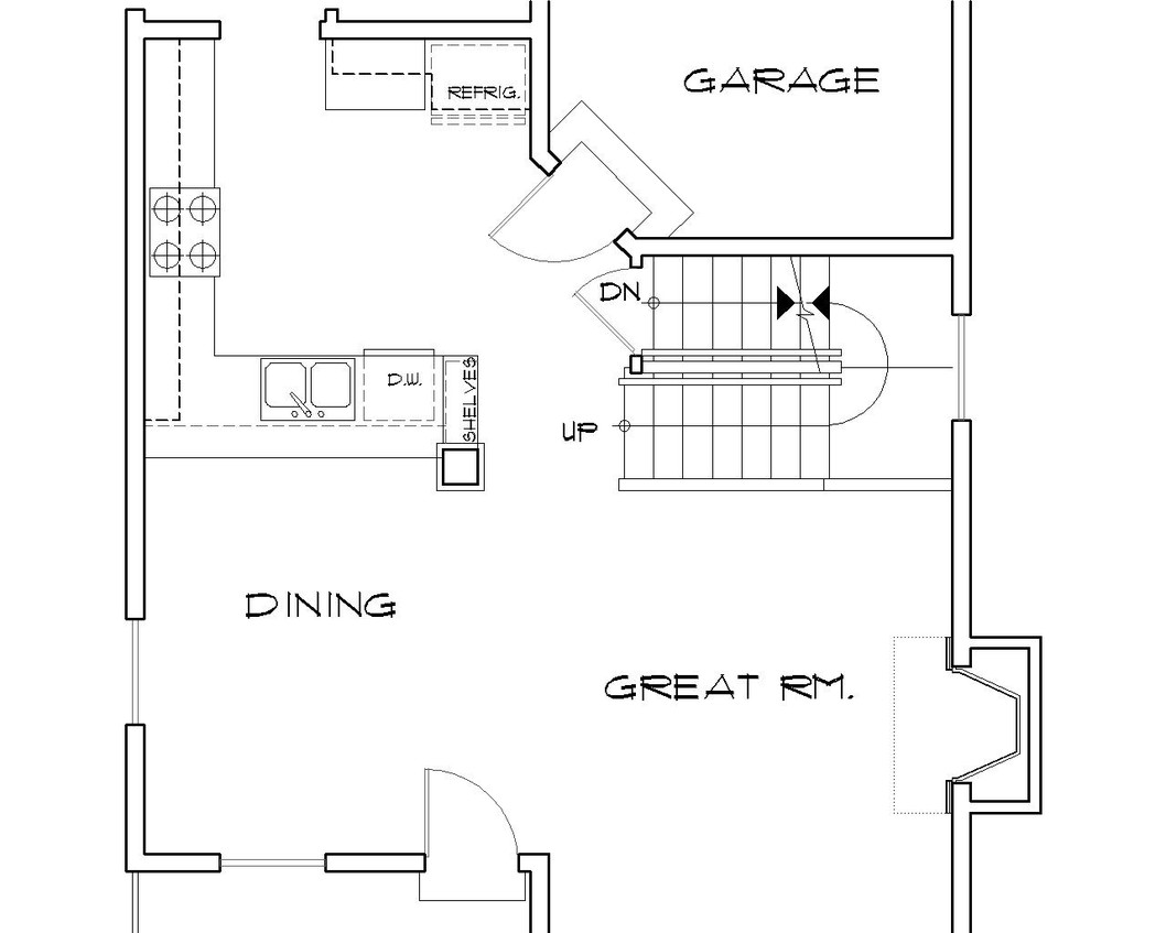 House plan b2157l the ballard for Basement floor plans with stairs in middle