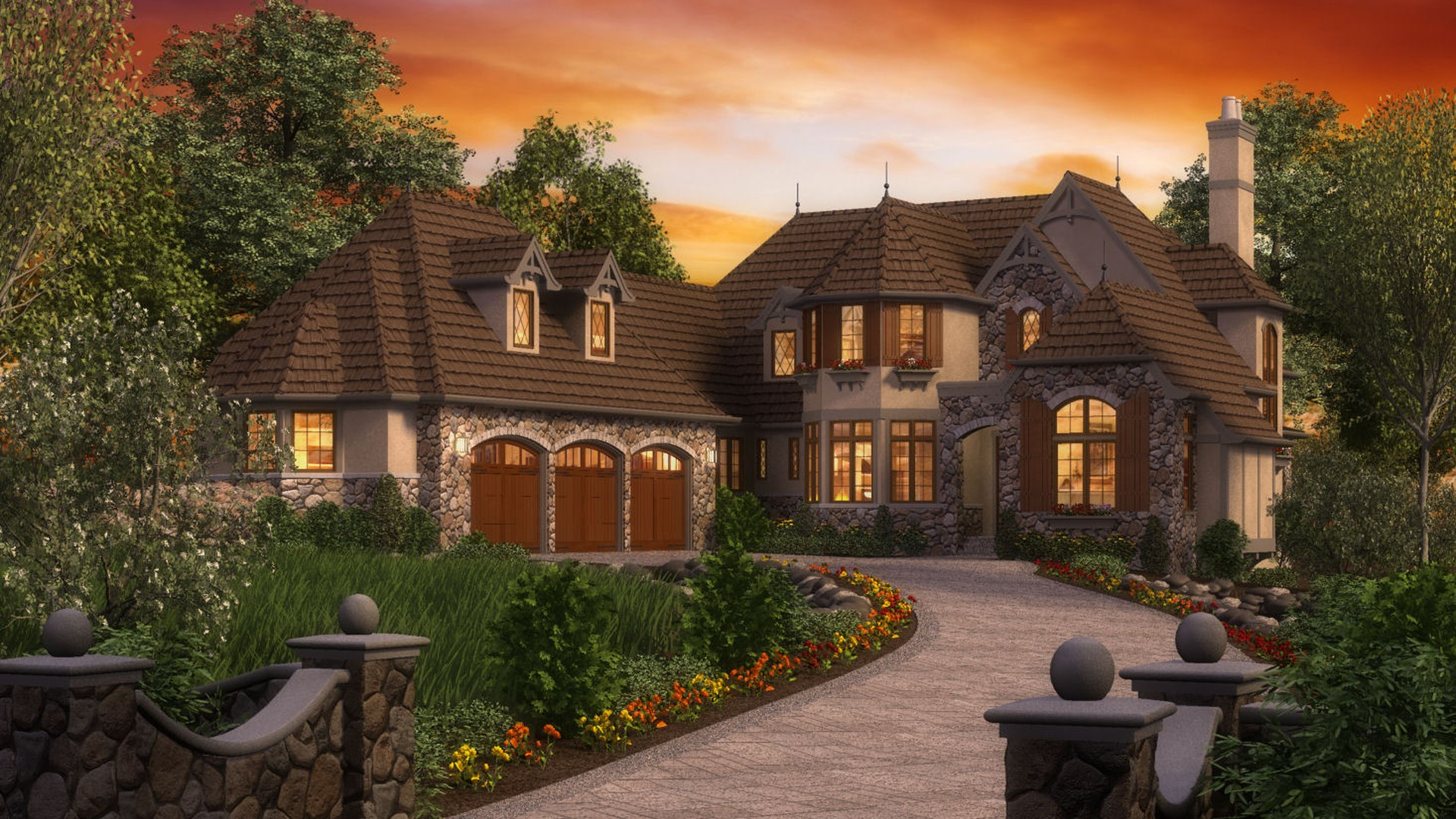 Cottage House Plan 2470 The Rivendell Manor 4142 Sqft 3