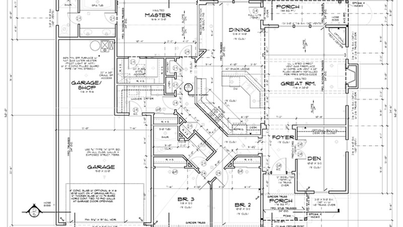 How to interpret a blueprint house plan blueprints malvernweather Images