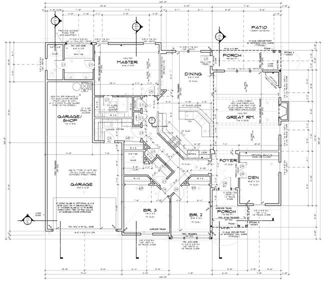 House plan modifications custom home design services for Plumbing blueprints for my house